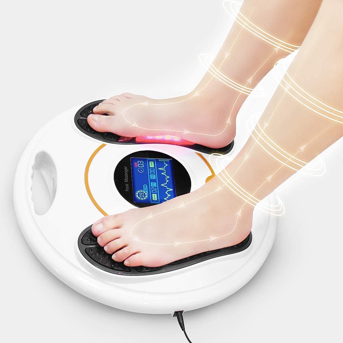 Foot Circulation Plus (FSA or HSA Eligible) - Medic Foot Massager Machine with TENS Unit, EMS (Electrical Muscles Stimulator) Feet Legs Health for Neuropathy, Diabetes, Relieve Pains and Cramps, RLS: Health & Personal Care