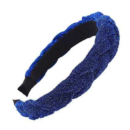 Light Blue Pink Purple Braid Hair Band Head Under Sweat Headband Armour No Slip
