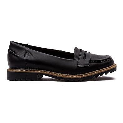 afc9c71da1f Clarks Ville Femme Chaussures Griffin Milly en Cuir Noir  Clarks ...