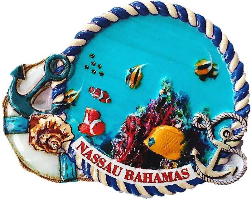 DestinationVinyl The Bahamas Fridge Magnet Beach Holiday Nassau Travel Stamp 4066