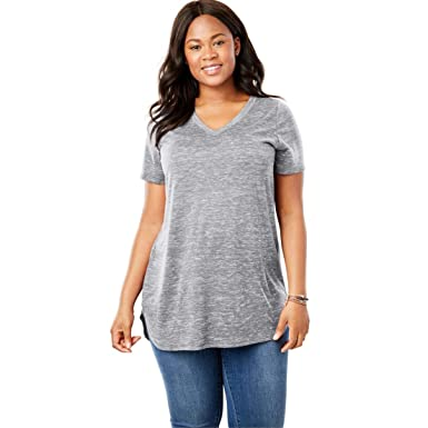 a539abe87d47c2 Woman Within Women s Plus Size Lace V-Neck Tank at Amazon Women s ...