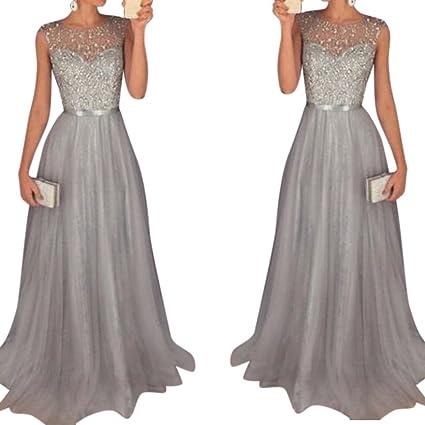 2d28995023 Zehui Vestido Largo Elegante para Las Mujeres