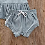 Infant Baby Girl Soild Cotton Outfits Short