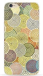 NOVAGO Elegante funda - gel de silicona irrompible - para iPhone 5 / 5S /SE (Círculos coloreados)