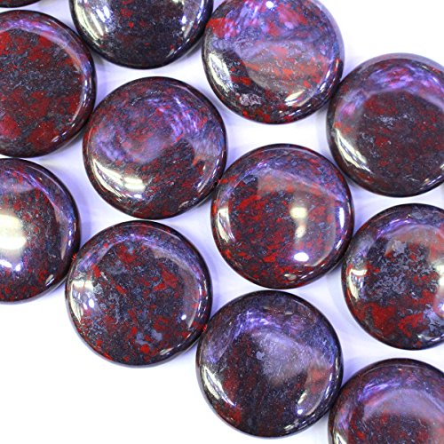 Brecciated Jasper Gemstone - Natural Color China Brecciated Jasper Gemstone Loose Beads for Necklace Making (coin 25mm)