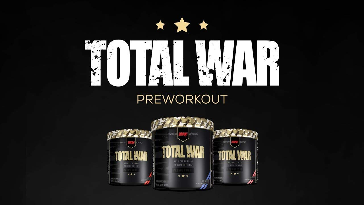 Total War - Pre Workout - 30 Servings - Newly Formulated (Strawberry Lemonade Slushy)   Limited Edition Any Body Supplements Exclusive by Redcon1 (Image #4)