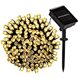 LOENDE Solar String Lights Outdoor String Lights 72ft 8 Modes Warm White 200 LED Solar Powered String Lights Fairy Lights for Patio Lawn Christmas Tree Garden Holiday Party Decorations, Waterproof
