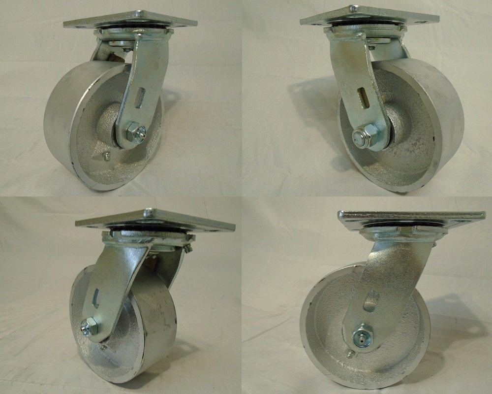 5'' X 2'' Swivel Casters with Heavy Duty Semi-steel Wheel (4) 1000lb Each Tool Box