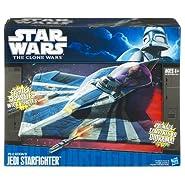 Hasbro Star Wars Clone Wars Star Fighter Vehicle Plo Kloons Jedi Star Fighter