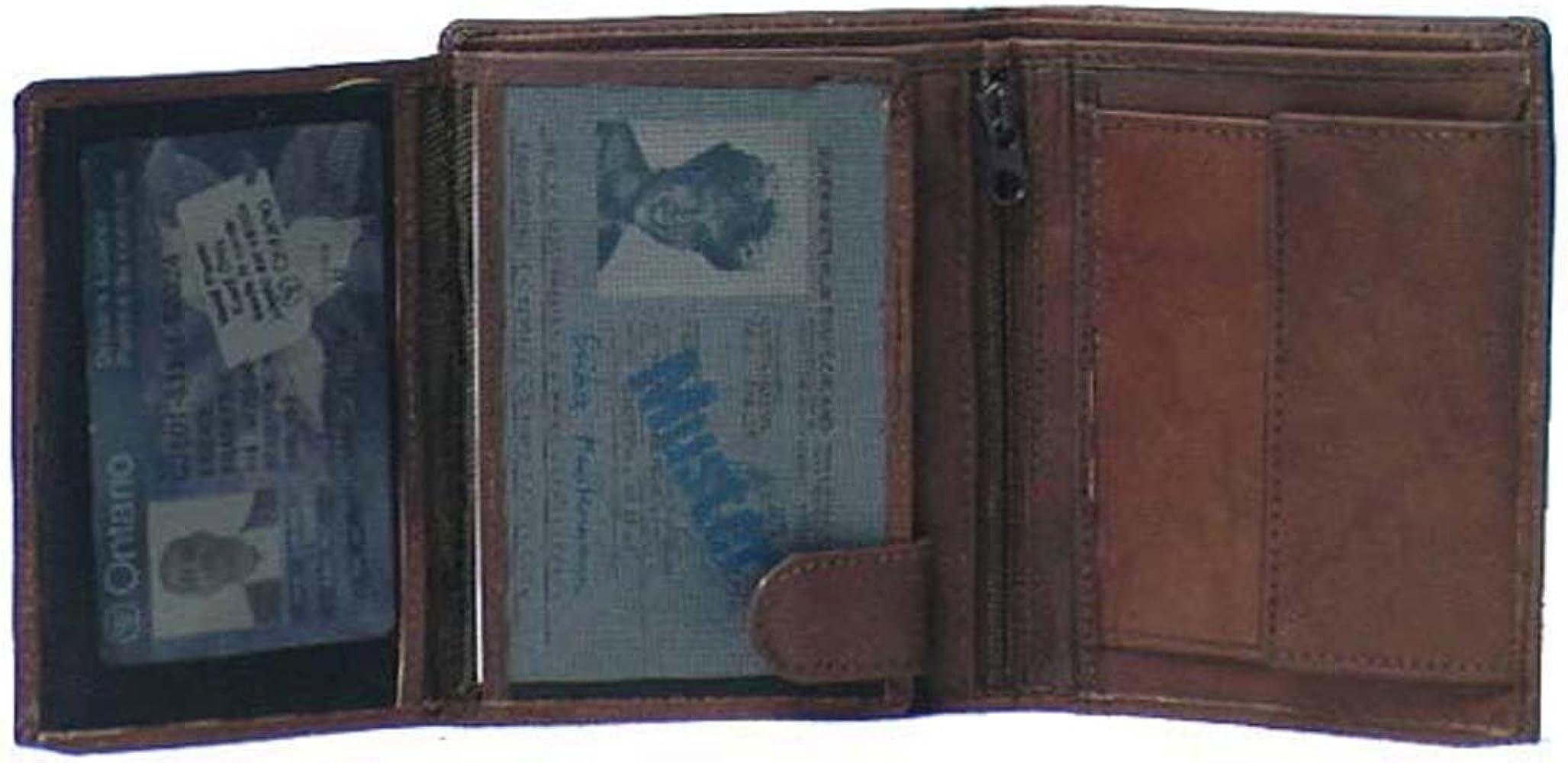 Genuine Cowhide Leather Men/'s European Large RFID Wallet #4565R CAN