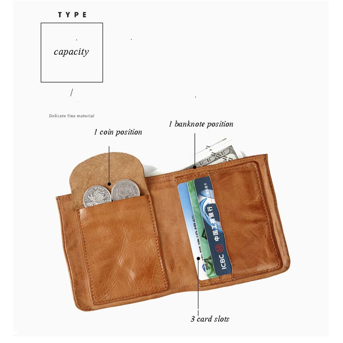 d77869d125 ... Black Yikuo Men's And Women's Brown Vintage Wallet Wallet Wallet  Leather, ...