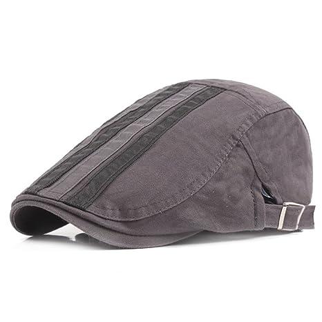 Scrox 1x Hombre Mujer Sombreros Gorras Boinas Moda Simple Vintage Flat Cap  Casual Unisex Otoño Invierno fcf8507dfdb