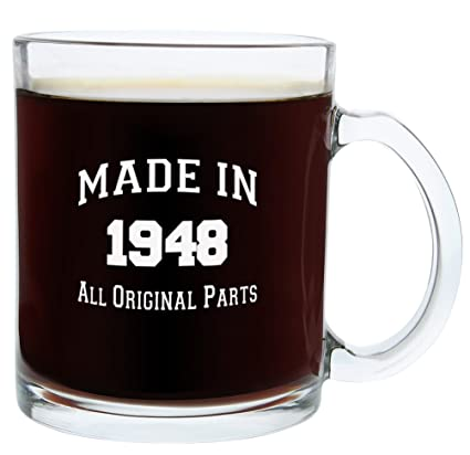 Gifts For 70th Birthday Men Made 1948 Party Supplies Gift Glass Coffee