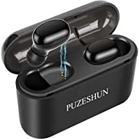 True Wireless Earbuds,Bluetooth Earbuds, Bluetooth 5.0 Headphones, 3D Stereo, Extra Bass, 100+ Hrs Play Time with 2600 mAh Charging Box, IPX5 Waterproof, Siri,Noise Cancelling Earbuds with Mic for iPhone, Android and iPad