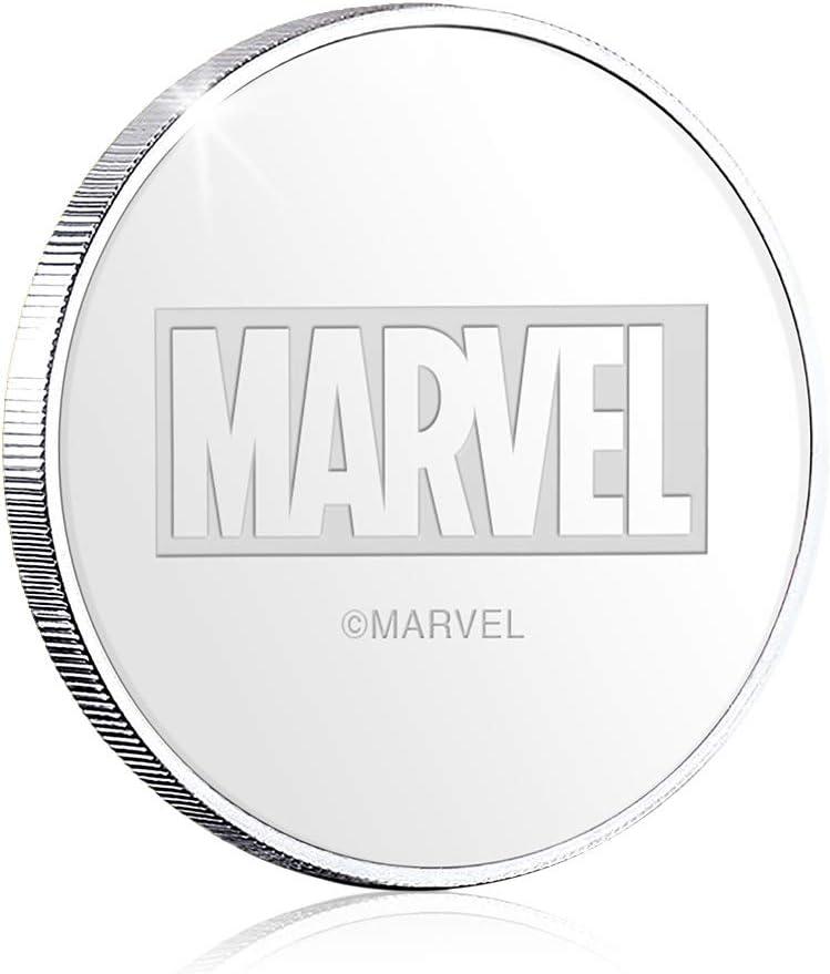 Argento-Placcato 32mm IMPACTO COLECCIONABLES Vendicatori Marvel Moneta da Collezione Commemorativa Ufficiale Marvel