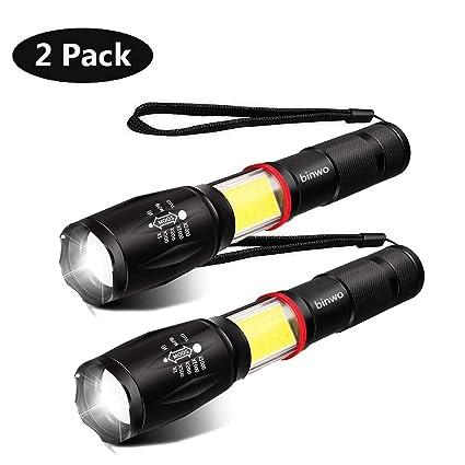 Led Flashlight Flashlight Portable Work Light Cob+t6 Strong Magnetic Hiking Tactical Military Warning Lamp Portable Lighting