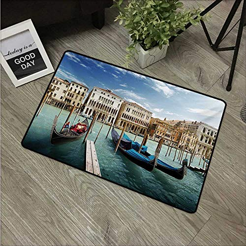 HRoomDecor Italian,Mats Gondolas in The Venetian Adriatic Lagoon Historical Venezia Photo W 16