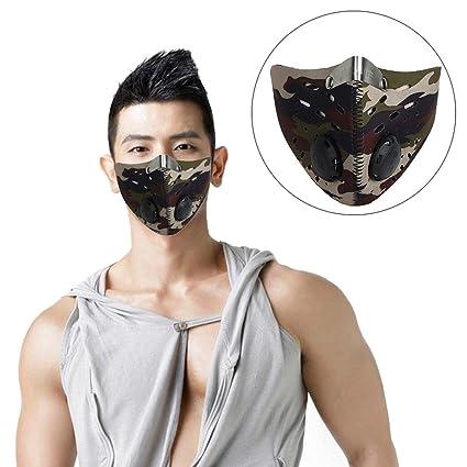 Máscara antipollución antipolvo para deportes al aire libre, con filtro de carbón activado, antipolvo
