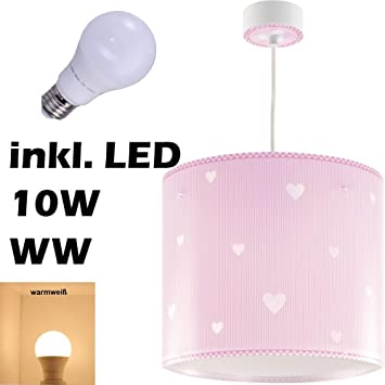 Led Lampe Kinderzimmer Decke Pendelleuchte Herz 62012s Warmweiss