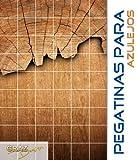 Pegatinas para azulejos Puerta de madera árbol patrón Roble Spruce Pine cocina tamaño de azulejo 10x20cm (Número de azulejos = 5 de ancho 4 alto)