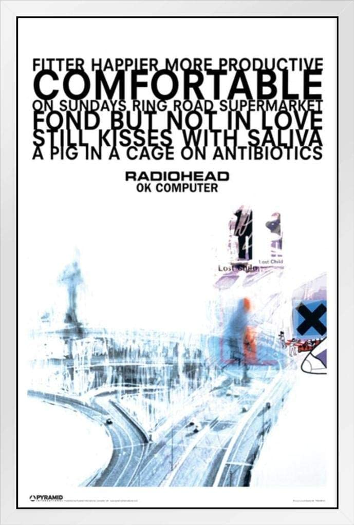 A1 Size Radiohead Inspired Poster Minimalist Album Collage