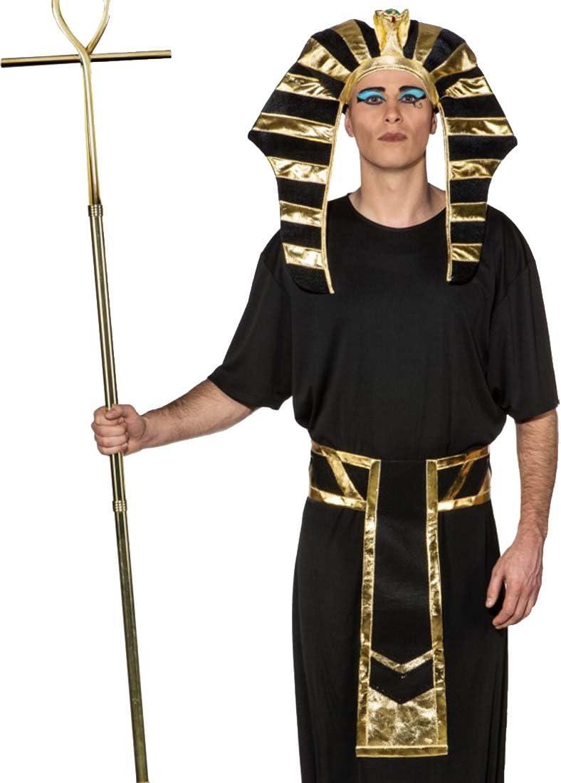 NET TOYS Set Disfraz faraón Accesorios Rey Egipcio Sombrero y ...