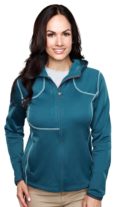 TRM@ Women's Polyester Lightweight Performance Fleece Hooded Mustang Jacket