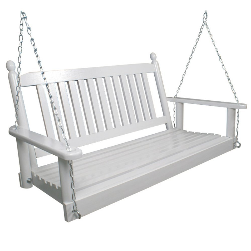 Amazon.com: Hinkle Chair Company Lakewood 4 Ft. Painted Porch Swing, White,  Wood: Electronics