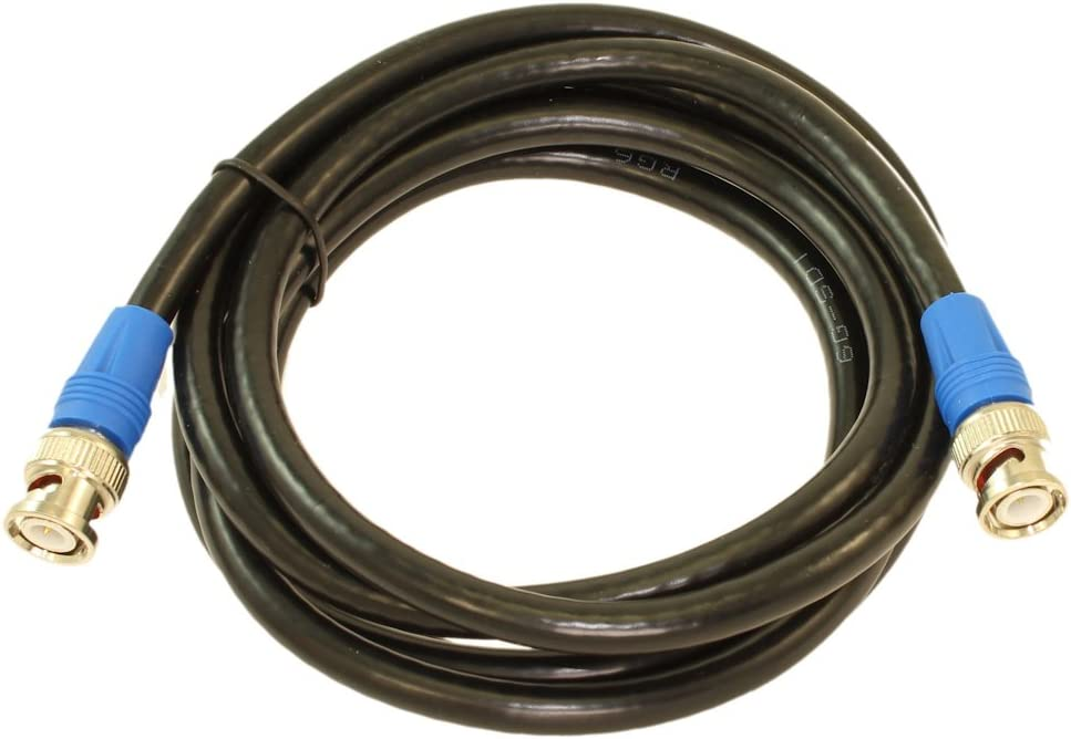 MyCableMart 8ft 6G-SDI Gold Plated RG6//18AWG Male to Male 4K BNC Coax Cable