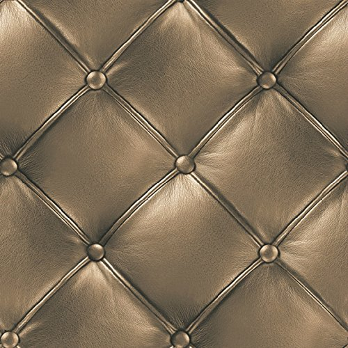Textured Wallpaper Gold (HaokHome 3231 Vintage Gold 3D Leather textured wallpaper Vinyl wallpaper mural 20.8