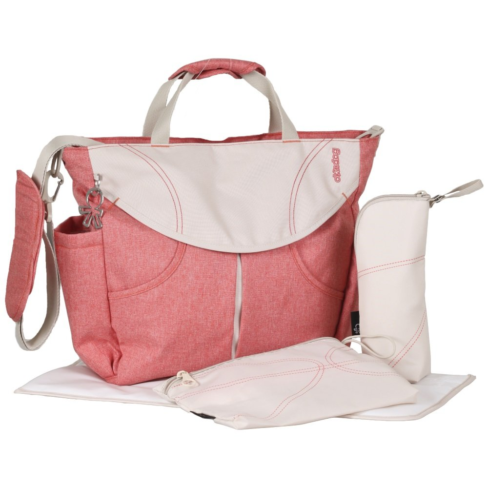 Urban Sumo Messenger Diaper Bag & Backpack By Okiedog (Coral)