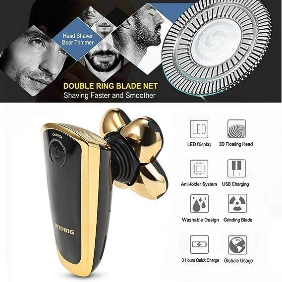Máquina de afeitar eléctrica, máquina de afeitar para hombres con ...