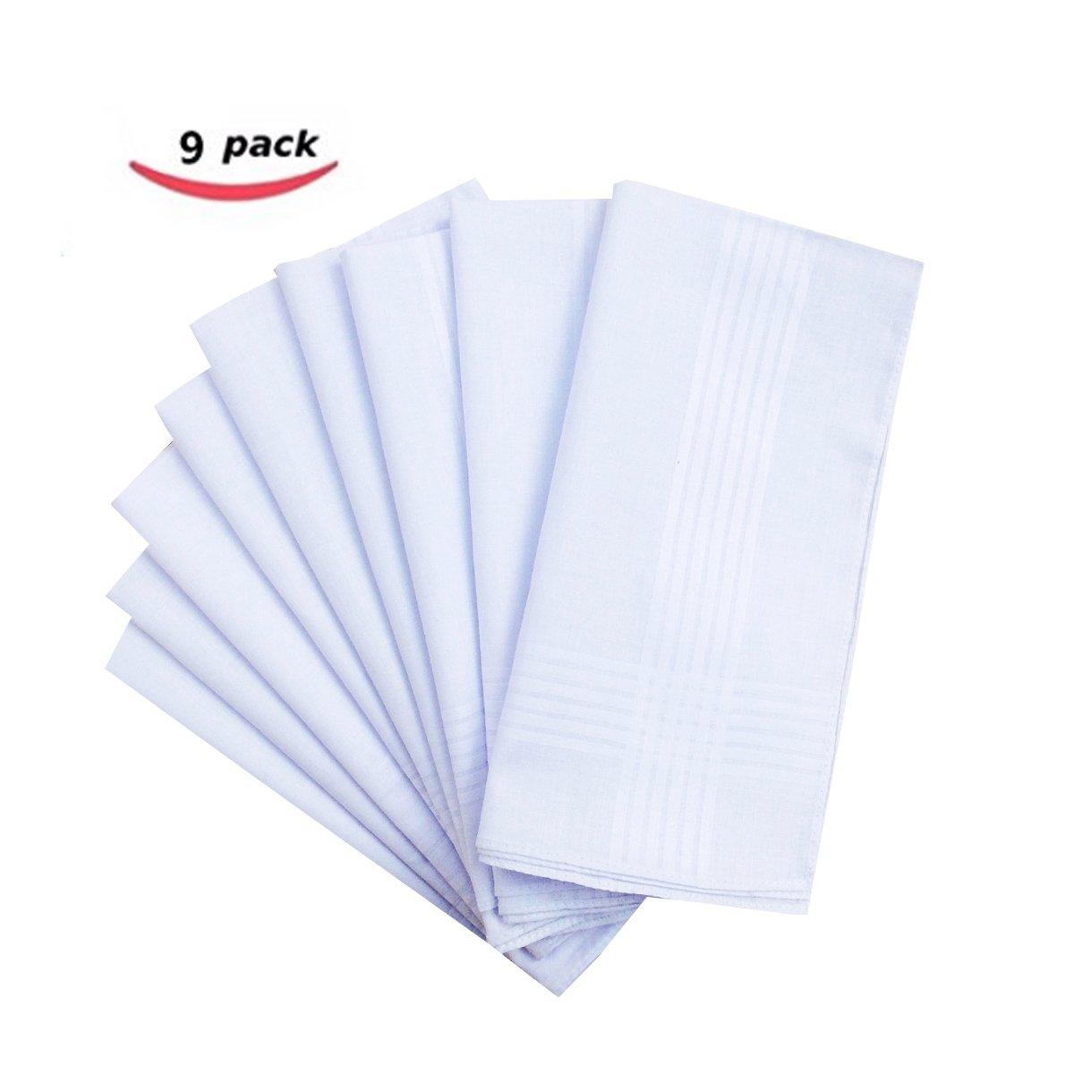 Pure Cotton Solid Fashion Men's Handkerchiefs Hanky Hankie