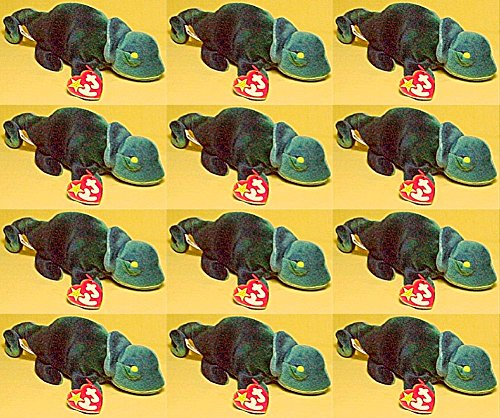 110111c4293 12x Ty Beanie Babies - Rainbow Blue Chameleon Wholesale Lot - Import ...