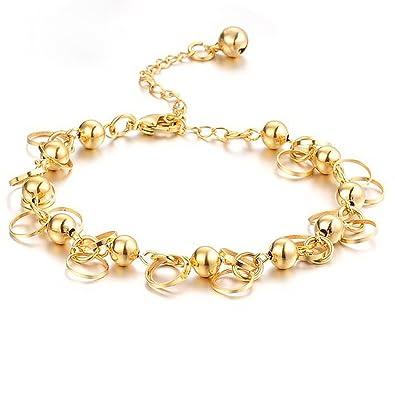 Amazoncom Opk Jewelry 18k Gold Plated Adjustable Womens Bracelets
