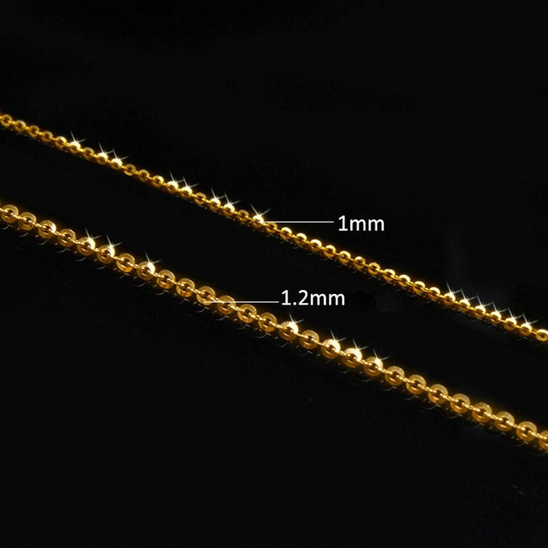 Beydodo Gold 750 Fu/ßkette Damen Fuss Kette Schmal Rolokette Strandkette Barfu/ß Gold