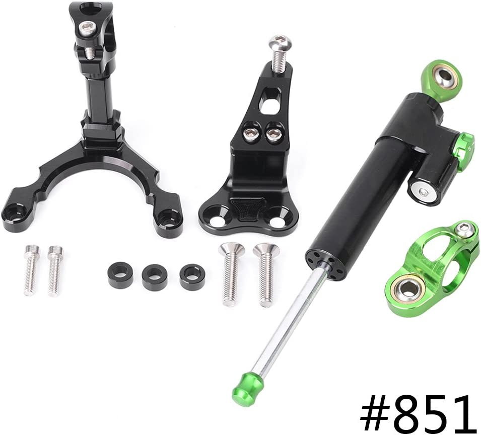 GZYF Racing Bike CNC Steering Damper Stabilizer Control Bar with Mounting Bracket Complete Set Compatible with Kawasaki Z900 2017-2018