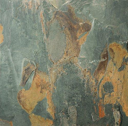 (Emser Tile S14SL92GO1616CAL Slate 592 Rustic Gold Cal Tile, 16 x 16