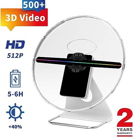 Amazon.com: GIWOX - Proyector 3D para mesa con holograma y ...