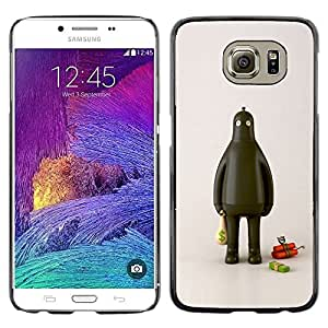 LECELL--Funda protectora / Cubierta / Piel For Samsung Galaxy S6 SM-G920 -- Fat Robot Thief Dynamite Cash Money --