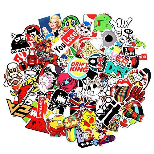 8 Series Stickers 100 pcs/Pack Stickers Variety Vinyl Car Sticker Motorcycle Bicycle Luggage Decal Graffiti Patches Skateboard Stickers for Laptop Stickers for Kid and Adult (Series H)