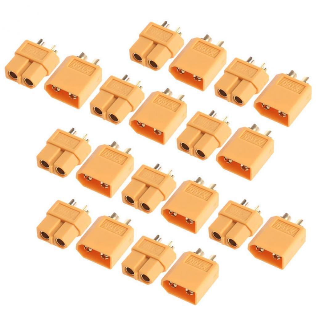 10 pares de conectores macho y hembra de bala XT60 para motor de baterí a RC Lipo lyhhai