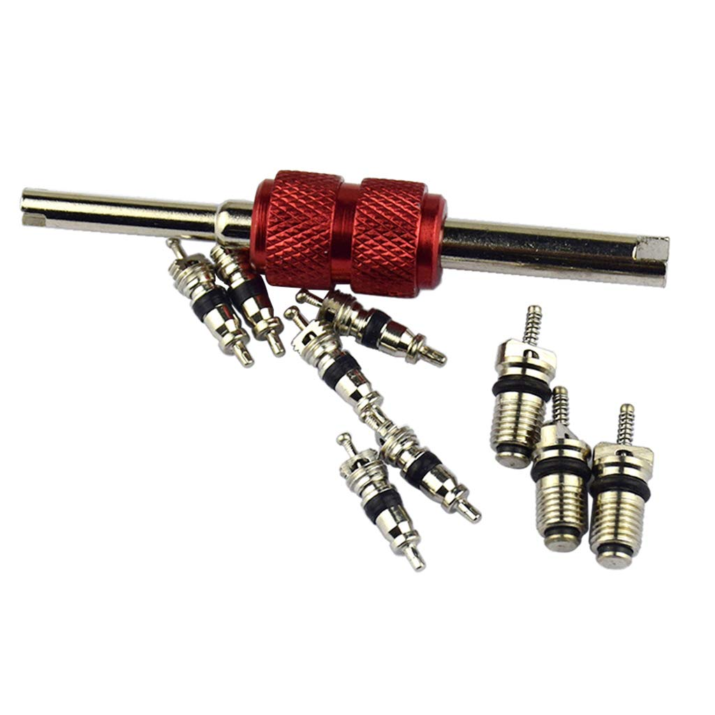 D DOLITY Automotive Air Conditioning Valve Core High Low Pressure Tool Quick Remover Installer