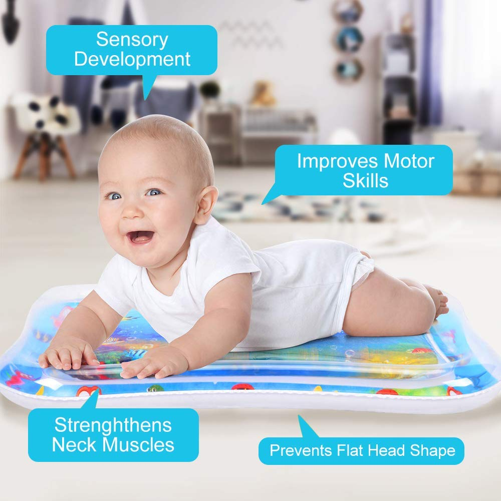 Raxoon Infants & Toddlers Tummy Time Water Mat, Perfect Toys for Your Baby's Stimulation and Growth by Raxoon (Image #3)