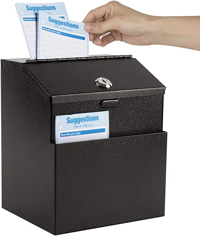 Metal Donation Suggestion Key Drop Box Express Checkout sales lead box
