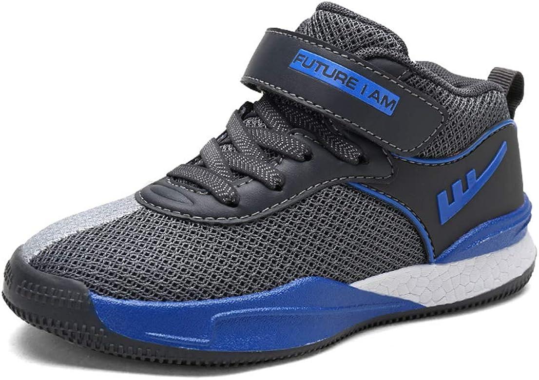 Zapatillas de Baloncesto para niños con Velcro Calzado de Malla ...
