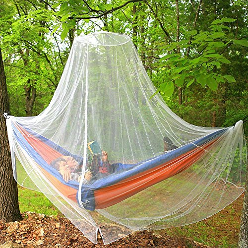 Mosquito Netting Canopy Screen | Hanging Mosquito Net for Camping, Hammocks, Travel & Patio | Insect Barrier, Malaria Net with Zipper | Included Travel Gift Bag