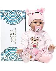 Muñecas de bebé de 56 cm, calidad realista, hechas a mano bebé, vinilo