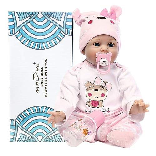 Muñecas de bebé de 56 cm, calidad realista, hechas a mano bebé, vinilo suave, como regalo o juguete, para niños mayores de 3 años, certificación EN71