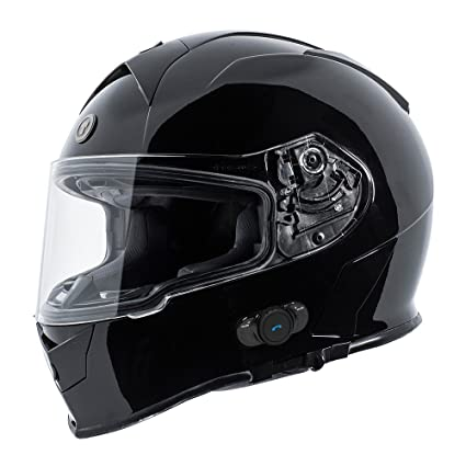 Amazon Torc T14b Bluetooth Integrated Mako Full Face Helmet